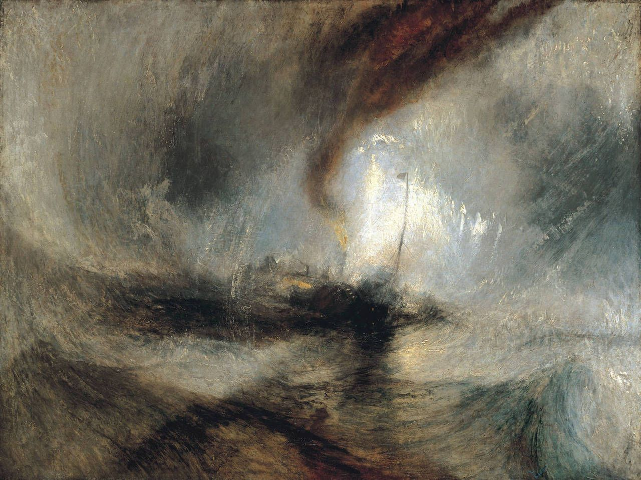 Turner Snowstorm And Steam Ship At The Entrance To The Harbour