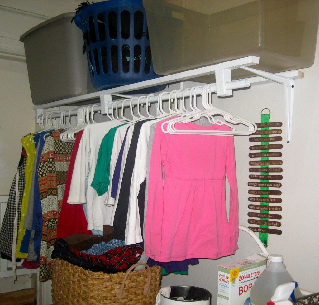 Wall Mounted Clothes Rack « Little House In The Suburbs