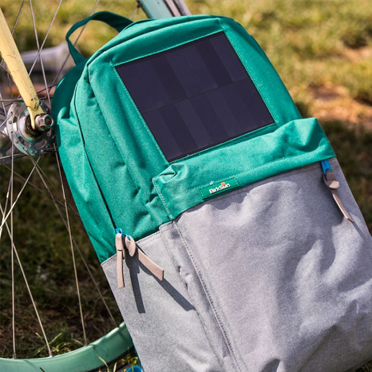 The Solar Backpack has a built-in solar panel that allows you to charge your devices anywhere on the go. The solar panel harness sun's energy and transform that energy into a usb cable which you can simply plug your device into. This backpack comes in handy especially when you go on camping.
