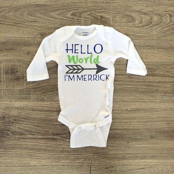 Hello world personalized onesie newborn boy onesie personalized hello world personalized onesie newborn boy onesie personalized baby gift baby boy onesie negle Images
