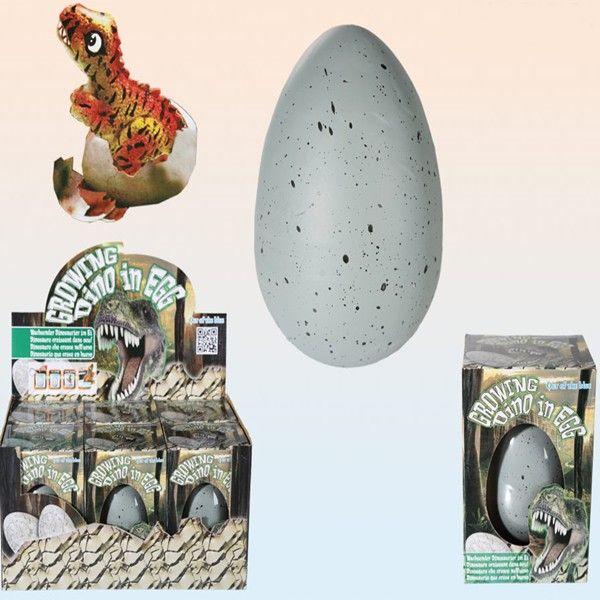 http://www.quieroregalarte.com/regalos-originales/1143-dinosaurio-que-crece-en-huevo-4029811321322.html?search_query=huevo&results=6 Un regalo perfecto para cualquier niño/@ o no tan niño. Estarán emocionados y querrán estar todo el día mirando el huevo.....jajaja  Es muy sencillo, sumerges el huevo en agua y a esperar...... en más o menos tres días verás como el dinosaurio sale del cascarón. Pasarás unos tres días super emocionantes mirando de cada minuto para ver su evolución.....