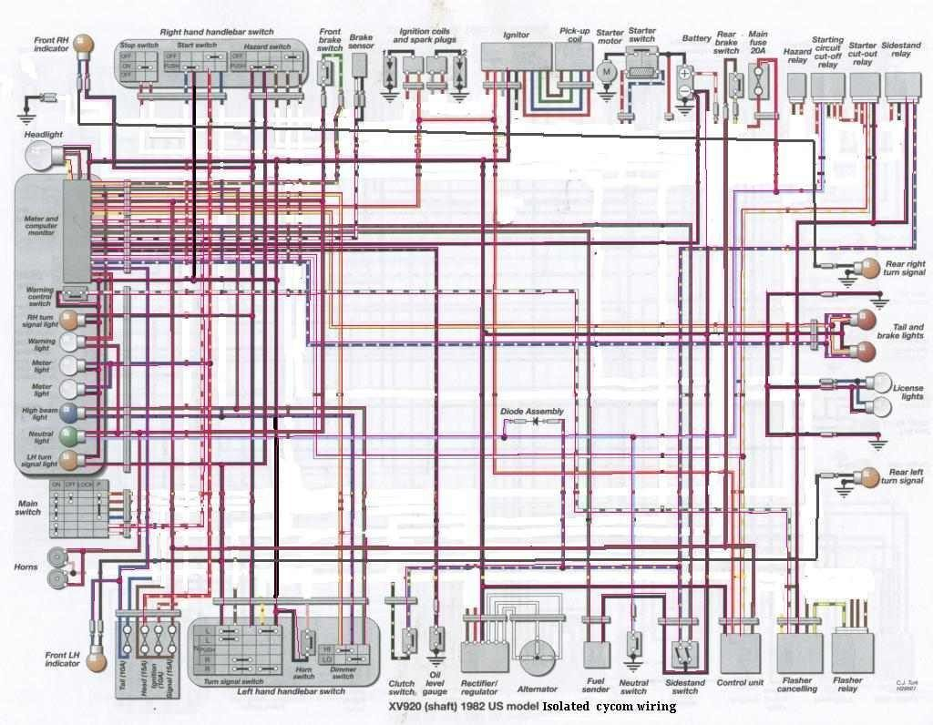yamaha xv 535 wiring diagram diagrams schematics with virago