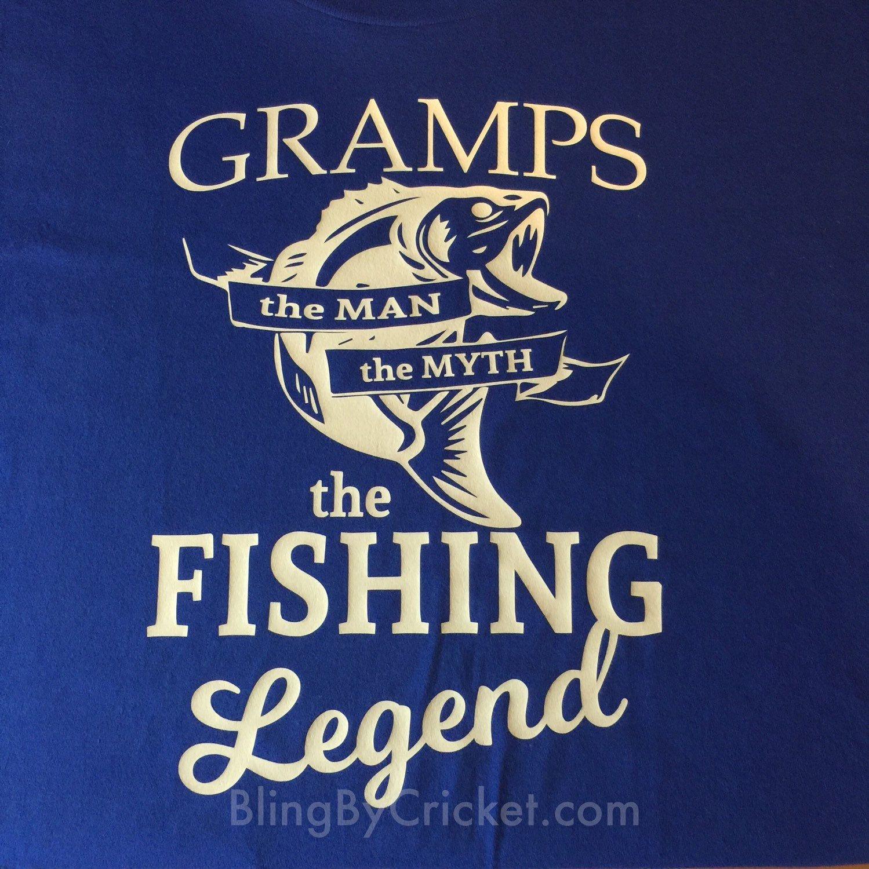 Grandpa Fishing Legend Fisherman T-Shirt