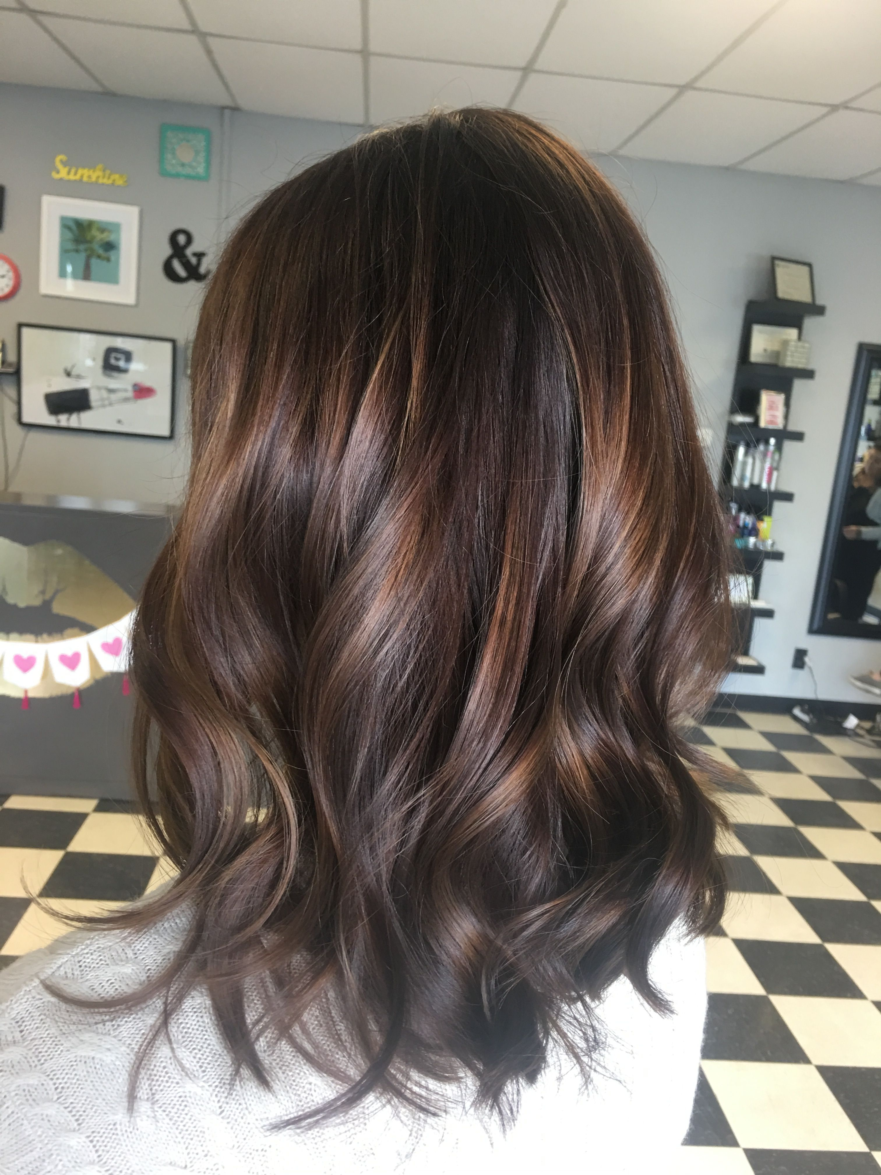 Love The Color Although I Wouldn T Want The Red Tones In There Would Prefer More Brown Tones Balayage Hair Brown Hair With Highlights Light Brown Hair