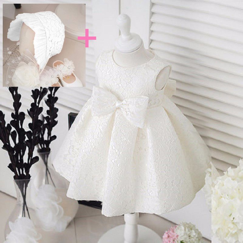 Flower Girl Dress Baby Kids Baptism Christening Wedding Birthday Party Ball Gown