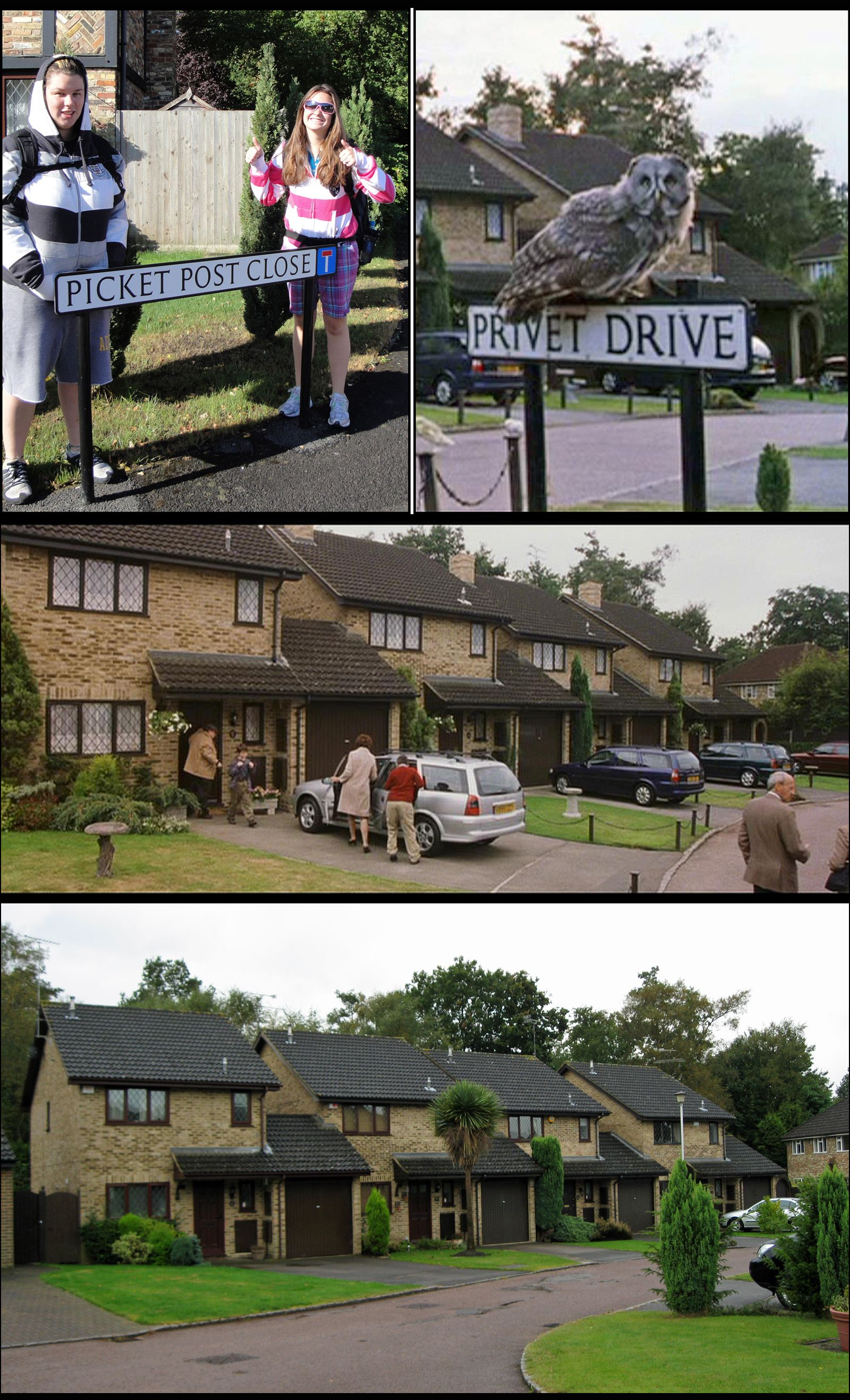 The Dursley S Number 4 Privet Drive Home Was Originally Filmed At Number 12 Picket Post Close In Marti Harry Potter Places Dream Vacations Study Abroad England