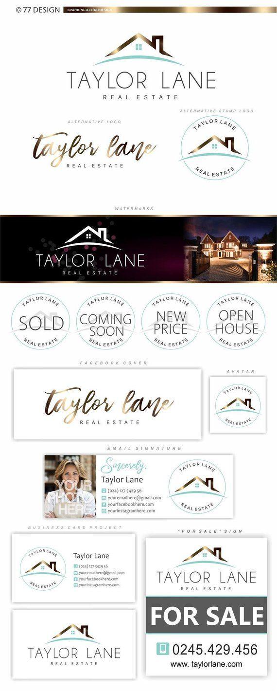 Real estate agent logo design, Real Estate branding kit