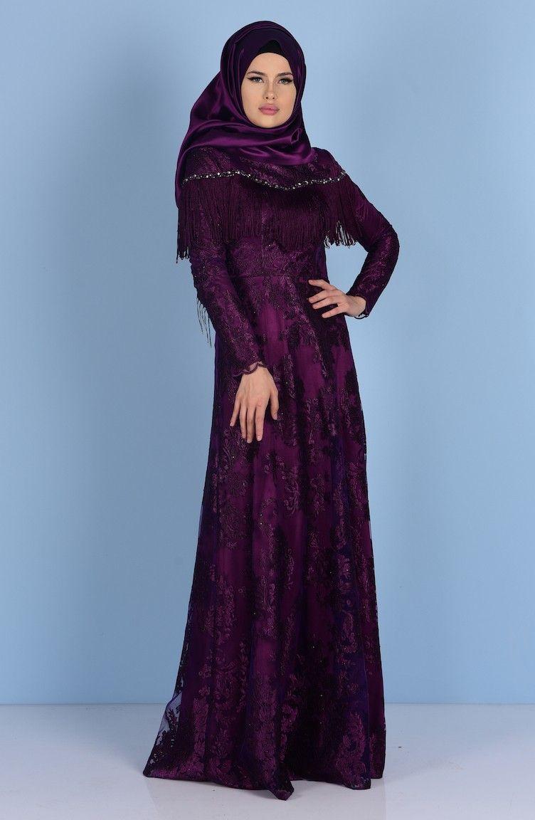 Sefamerve Tesettur Puskullu Abiye Elbise Modelleri Moda Tesettur Giyim Elbise Modelleri Moda Stilleri Elbise