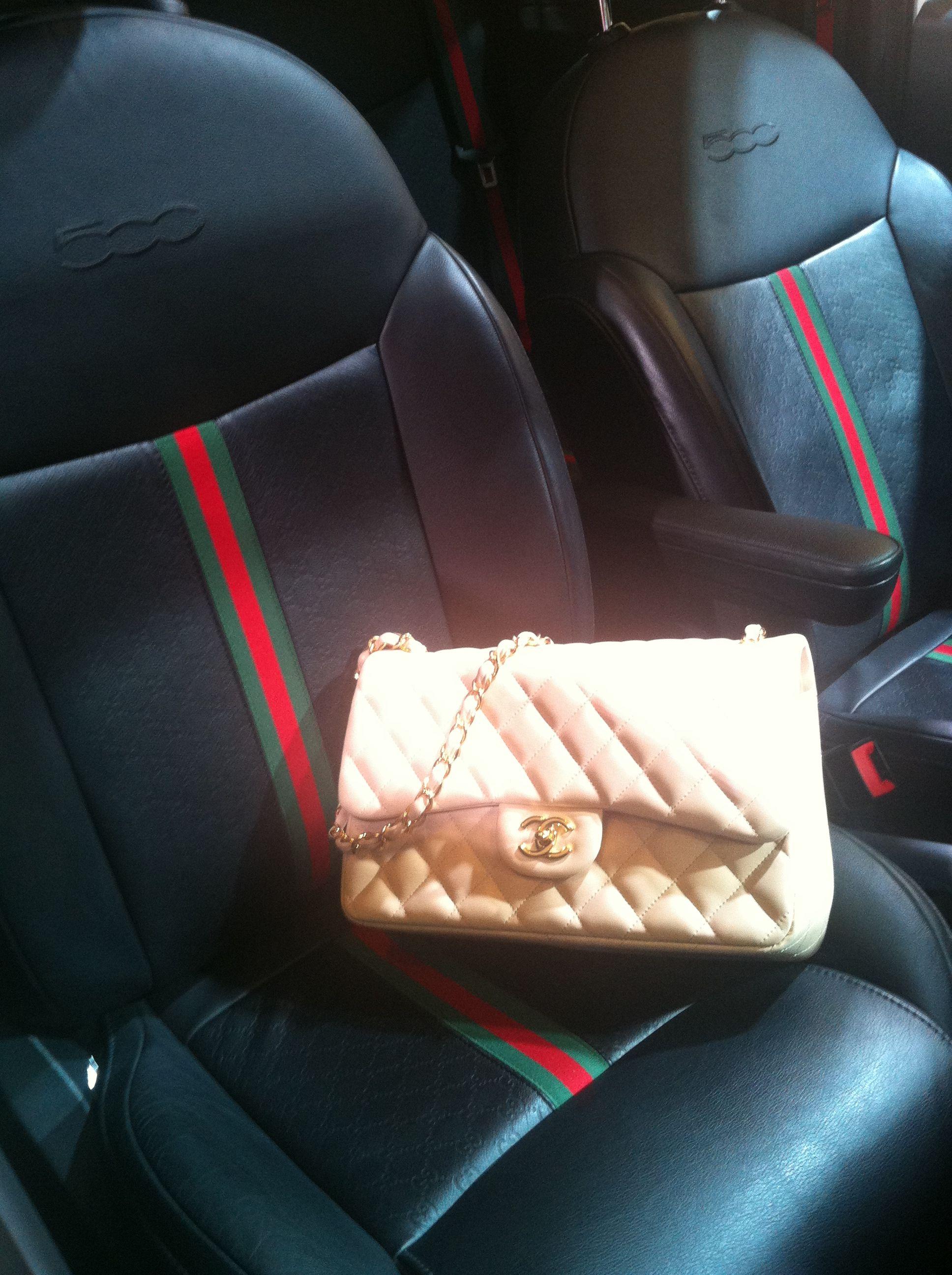 Fiat 500 Gucci edition  NYAutoShowBags  Chanel  handbagchallenge ... I want  a Gucci car AND a matching bag! 15a7b34e2ed89