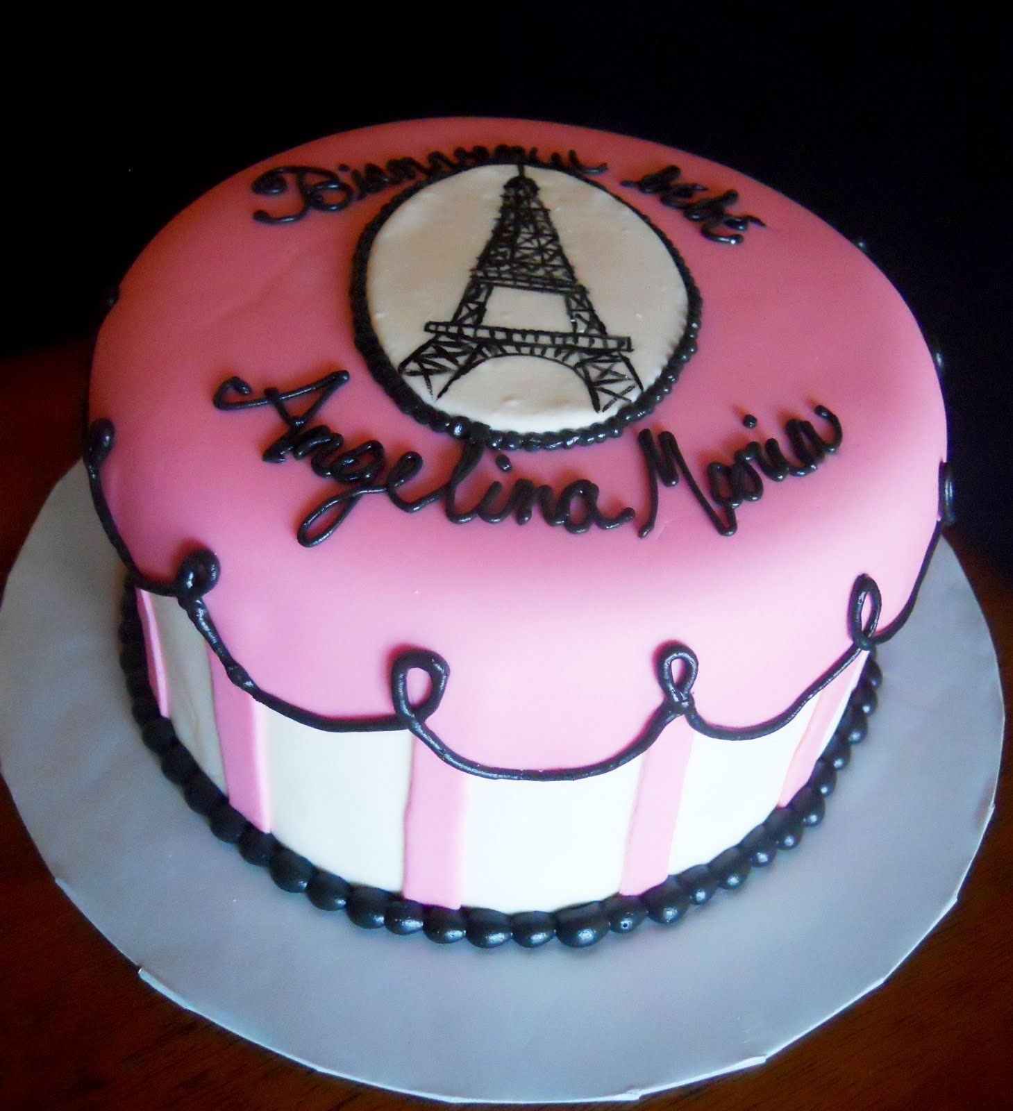 Lins Kitchen: Paris Themed Baby Shower Cake