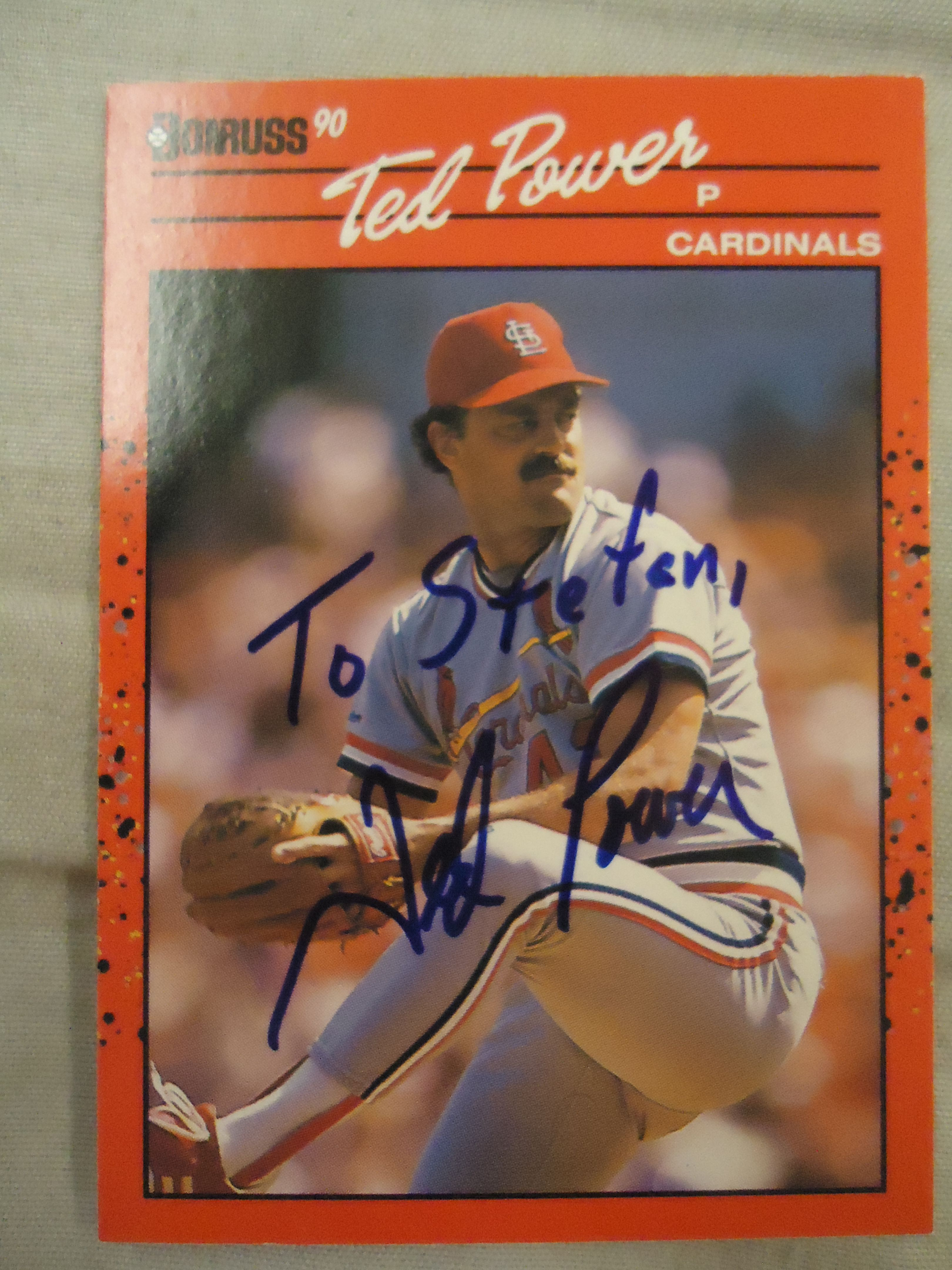 1990 donruss ted power ttm personalized to me