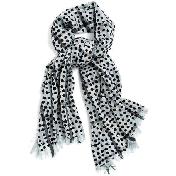 MARC BY MARC JACOBS 'Painted Dot' Plaid Scarf ($158) ❤ liked on Polyvore featuring accessories, scarves, black multi, lightweight scarves, black shawl, plaid scarves, tartan plaid scarves and tartan plaid shawl