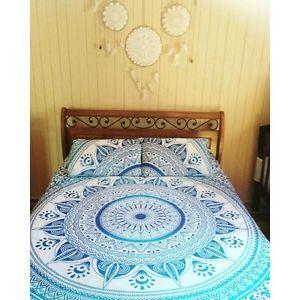 Decorative Ombre Bedding Set Throw Indian Bohemian Queen Size Bedspreads Decor | eBay