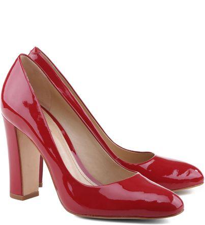 Sapato Scarpin Dakota Verniz Salto Alto Vermelho