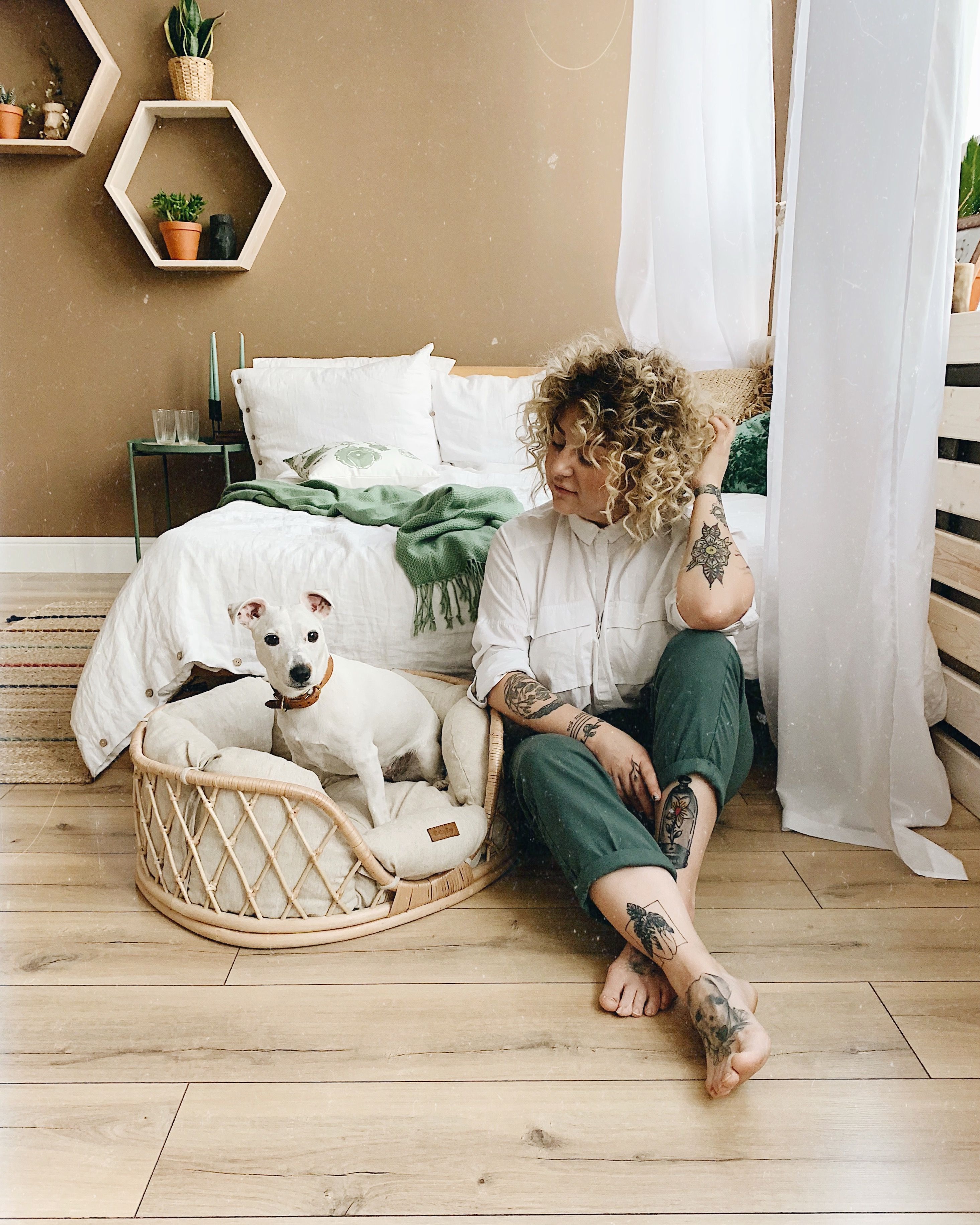 Vine Dog Bed- Bed for dog medium size - Handmade Eco-bed For Dogs And Cats
