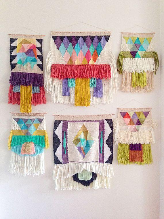 10 Pce Coleccion Tejer De Costumbre Para Katie Tejido Colgante De Pared Por Maryanne Moodie Woven Wall Hanging Tapestry Weaving Weaving