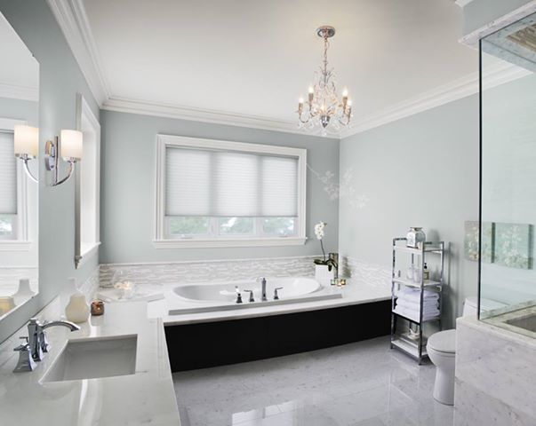 Pin By Ashley Gallegos On For The Home Tranquil Bathroom Bathrooms Remodel Glass Slipper Benjamin Moore