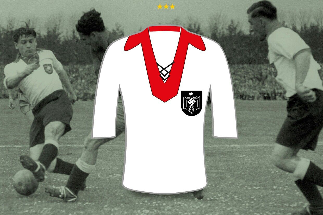 Germany home shirt for the 1938 World Cup Finals.   Dfb