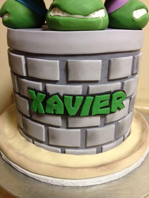 Teenage Mutant Ninja Turtle Cake  Cake By: Cakes By Christine NY (www.CakesByChristineNY.com)