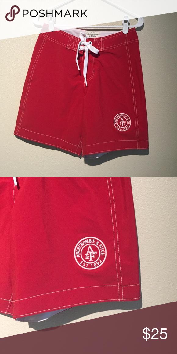 Abercrombie Men's swim short Red. brand new. Abercrombie. Men's Abercrombie & Fitch Swim Swim Trunks