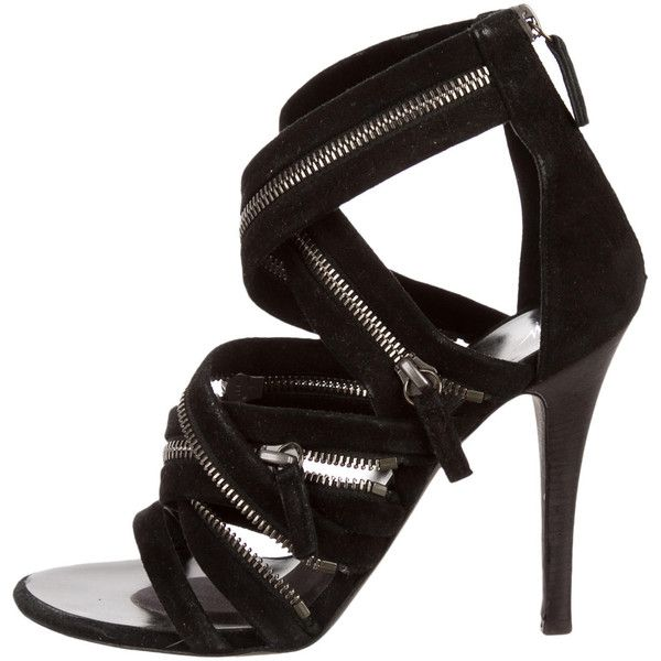 view cheap online buy cheap clearance Giuseppe Zanotti x Balmain Suede Caged Sandals the best store to get discount popular buy cheap outlet uH55H4v