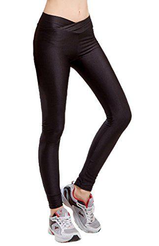 Smile YKK Legging Gainant Femme Pantalon Grande Taille Haute Collant  Amincissant Yoga Sport Noir Tour Taille 63-84cm  c3707c0a9b6