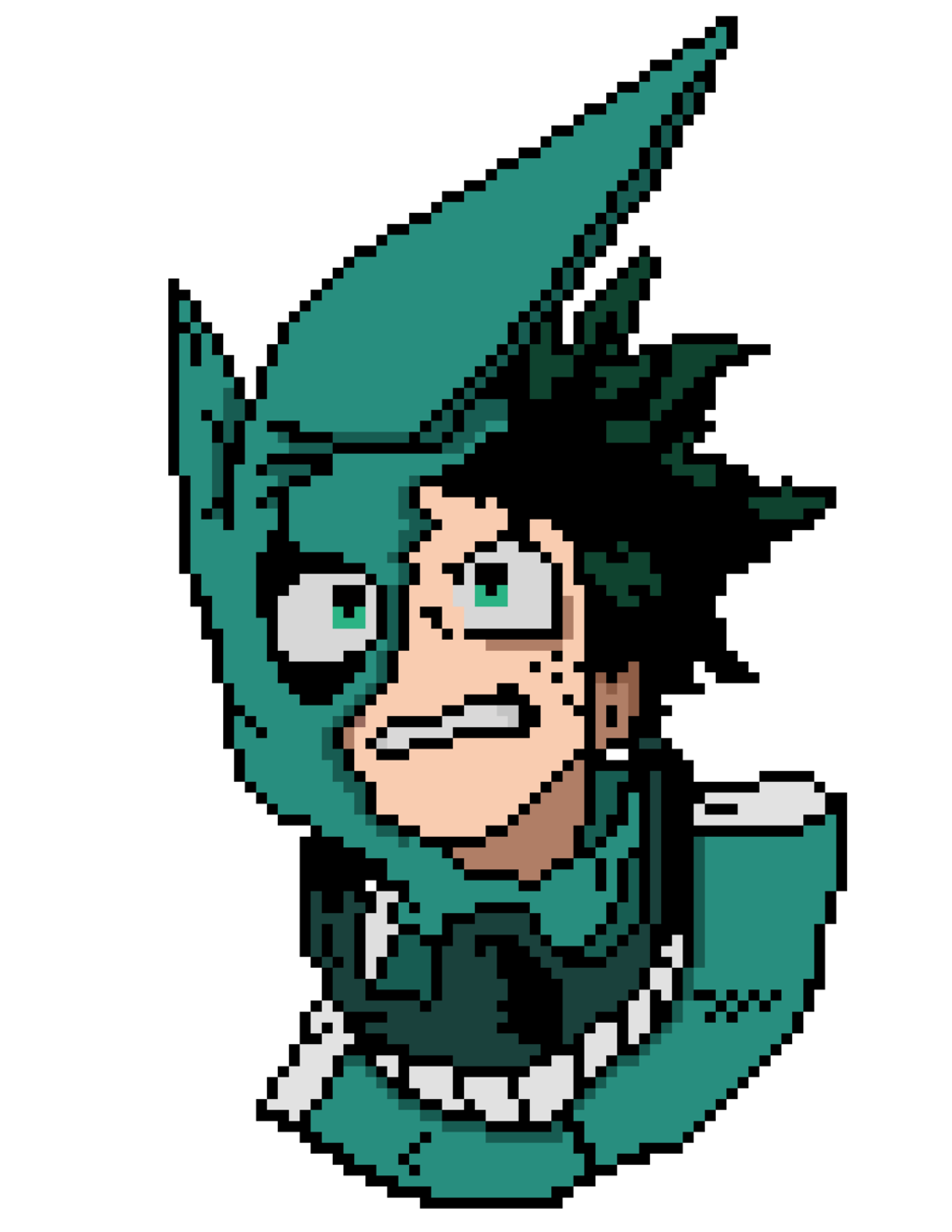 Izuku Midoriya Pixel Art My Hero Academia By Nezz94 Pixel Art Anime Pixel Art Pixel Art Grid If you're interested in learning how to make pixel art games using techniques like pixel art color by number, udemy has a course to help you develop 2d video games like a pro. izuku midoriya pixel art my hero
