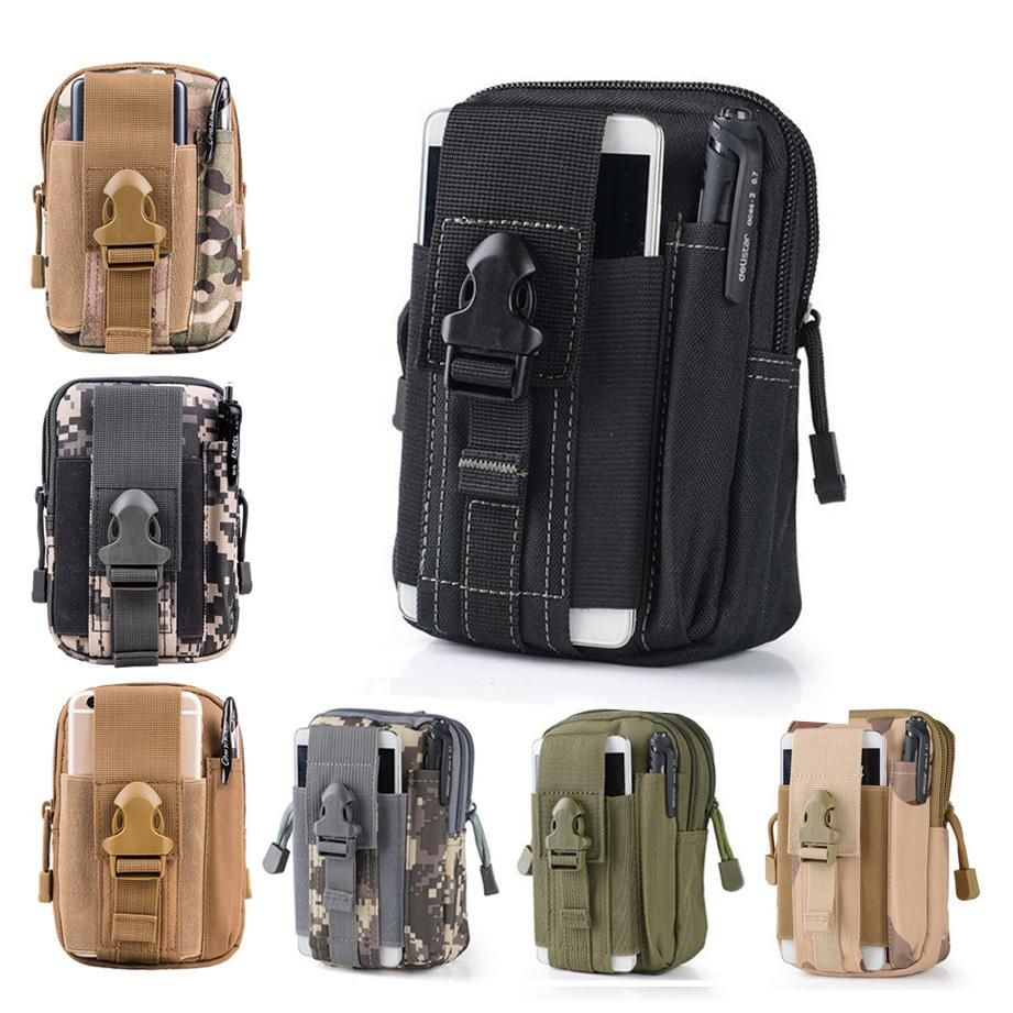 31a6eeb68b Universal Outdoor Tactical Holster Military Molle Hip Waist Belt Bag Wallet Pouch  Purse Phone Case with Zipper for iPhone 6 6S 7