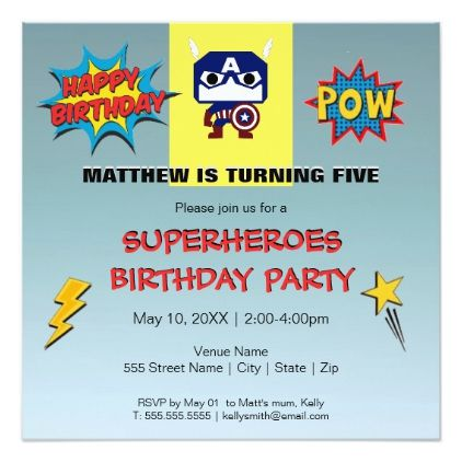 Superheroes Birthday Party Invitation  Invitations Personalize