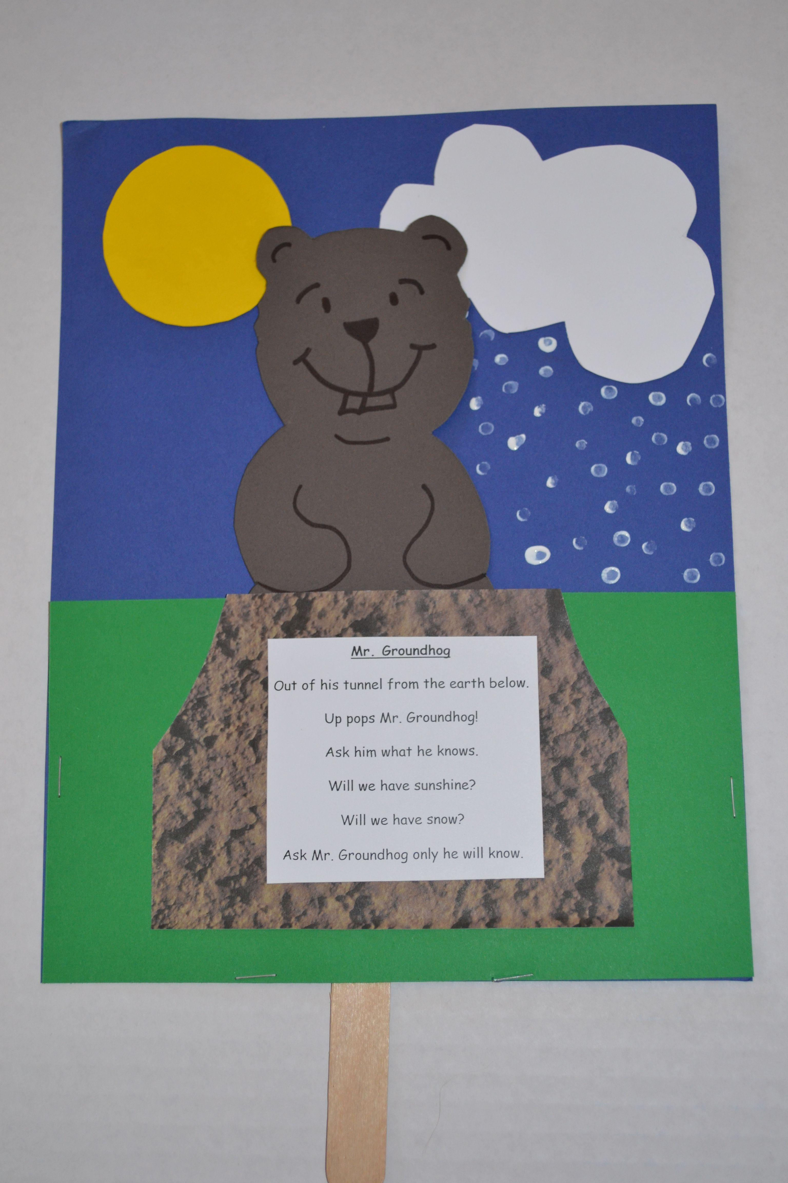 Groundhog Day Craft For Kindergarten Class By