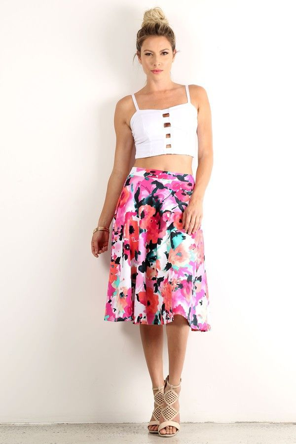 Lara Floral Skirt – Standout Style Boutique