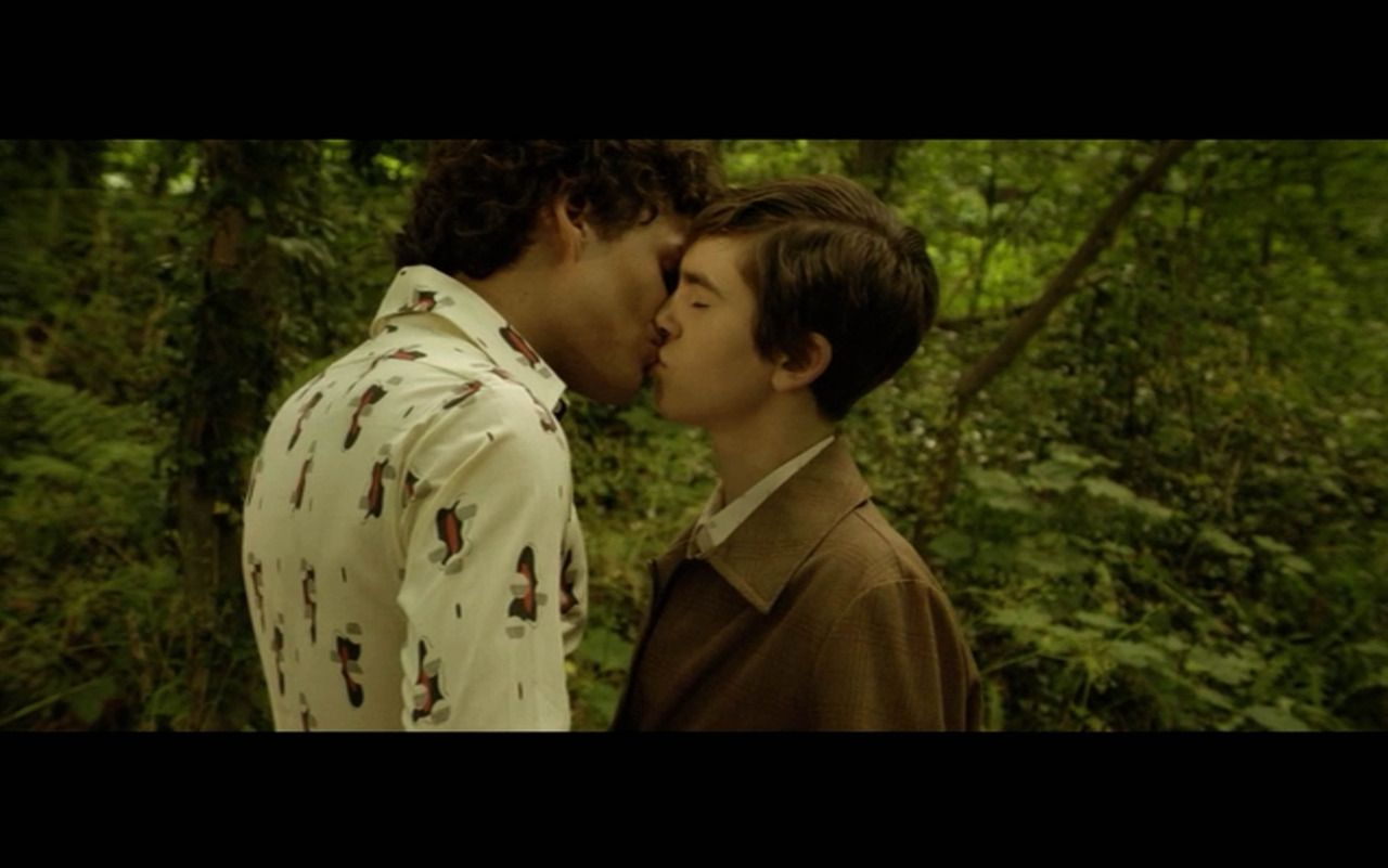 Two Boys Kissing In The Woods This Is A Scene From The Movie
