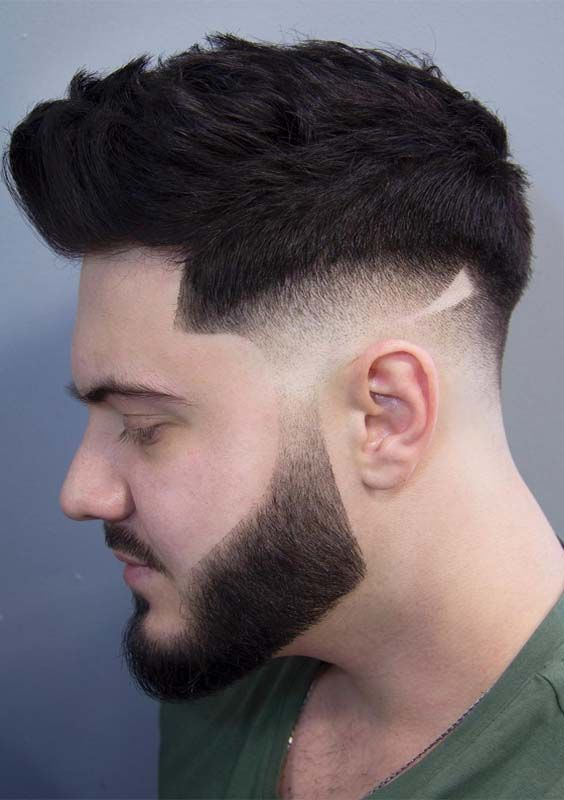 45 Coolest Side Shaved Messy Pompadour Mens Haircuts For 2018