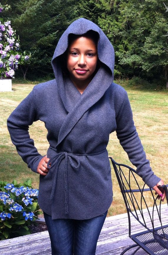Hooded Fleece Yoga Wrap Jacket - Is this the same as the other I pinned, just the styling and photog is different?  I can't tell...