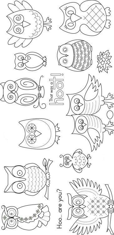 Schwarzweiss Eulenmuster Stickereimuster Eule Malen