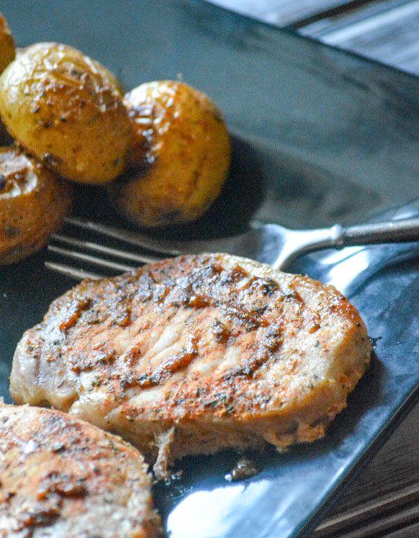 Ranch Pork Chop & Potato Sheet Pan Supper #sheetpansuppers