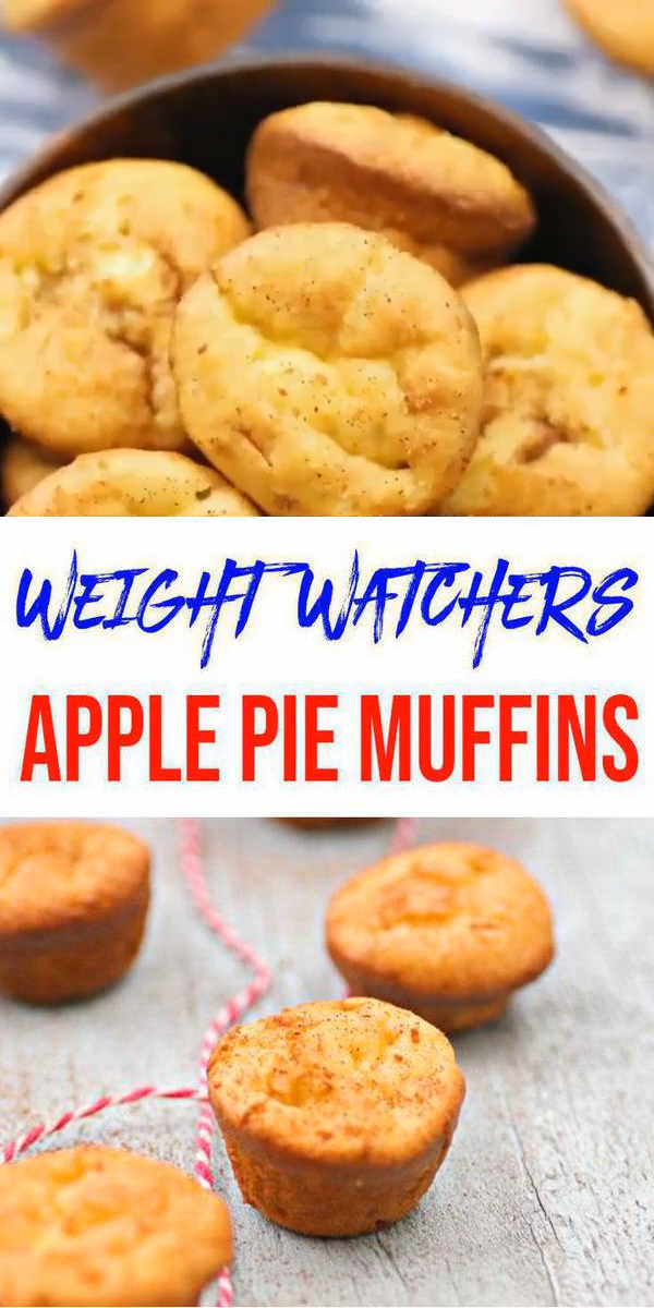 Weight Watchers Snacks! Yummy Weight Watchers Apple Pie Muffins! BEST WW sweets with these WW muffins w/ smartpoints. WW on the go snacks, Weight Watchers desserts or breakfast w/ these easy apple pie #muffins. Great 3 ingredient Weight Watchers diet snacks - homemade not store bought no need to buy WW snacks when you can make delish homemade. Low calorie recipes & snacks. Perfect for work & parties #ww #smartpoints - Click for this favorite Weight Watcher #HotChocolateGifts