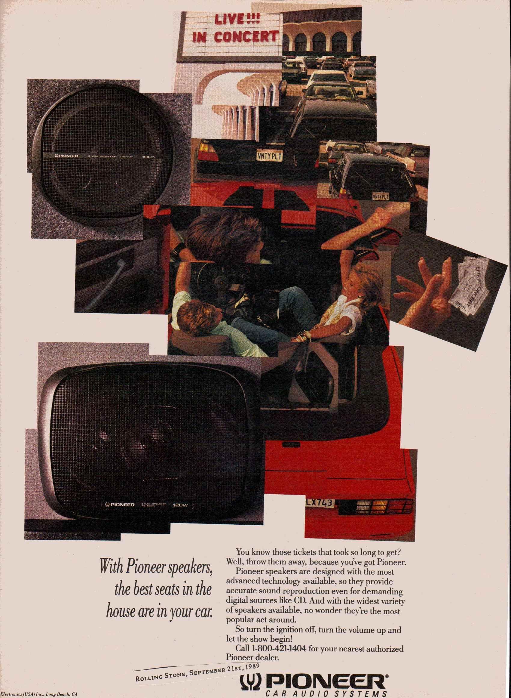 1989 pioneer ts 6944 car speakers vintage car audio ads vinyle r tro. Black Bedroom Furniture Sets. Home Design Ideas