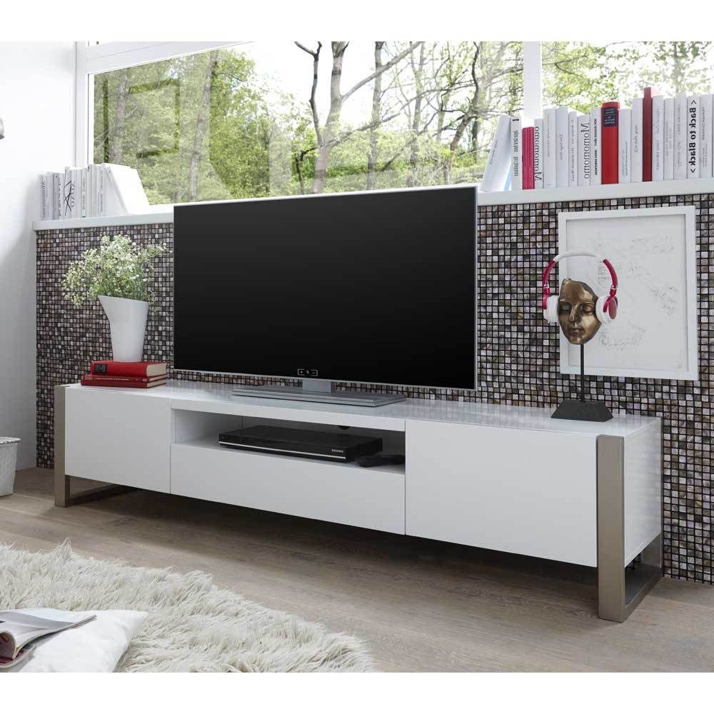 tv board in wei lackiert 180 cm breit jetzt bestellen unter. Black Bedroom Furniture Sets. Home Design Ideas
