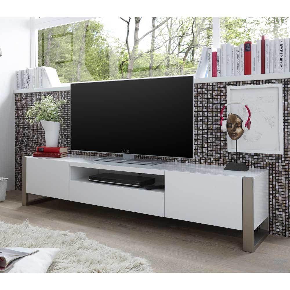 TV Board in Weiß lackiert 180 cm breit Jetzt bestellen unter ...