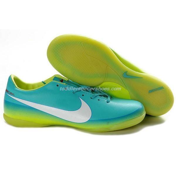 Futsal Shoes For Women Nike Mercurial Victory VIII IC Blue Green White c15b1d586b