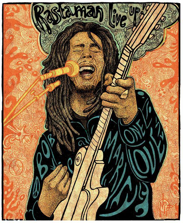 Bob Marley Rastaman Live Up One Love Bob Marley Art With