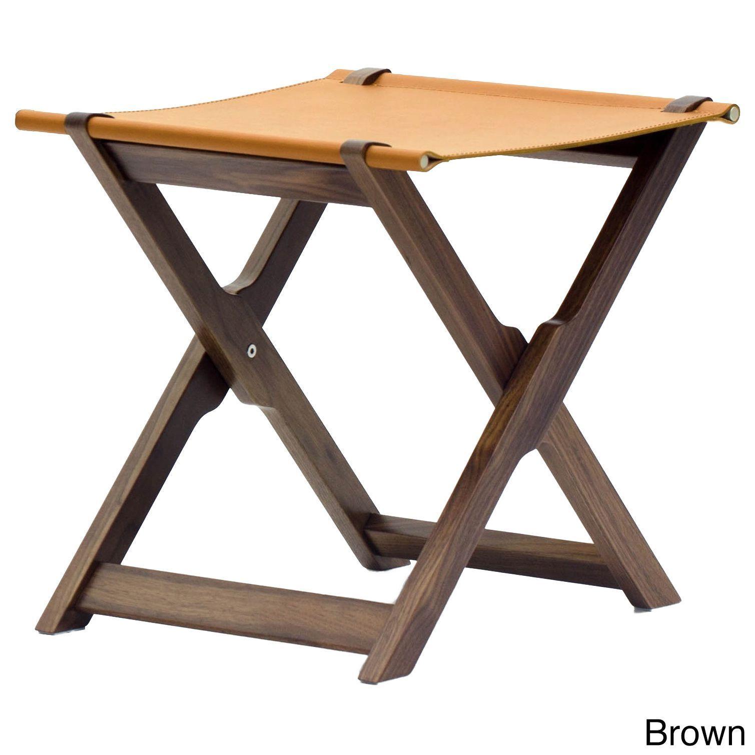 Argo Furniture Marchetti Coronado Folding Stool with Tray Black