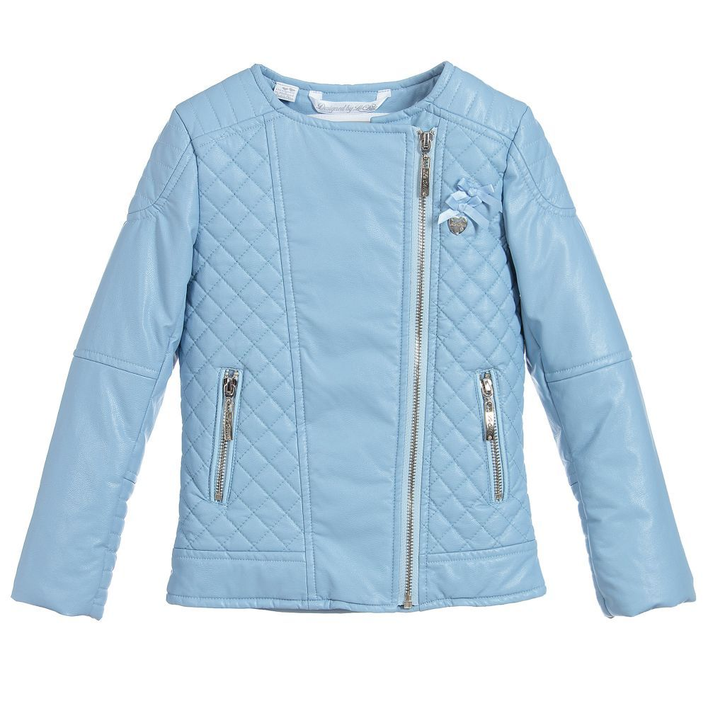 34b811130b72 Girls Blue Biker Jacket