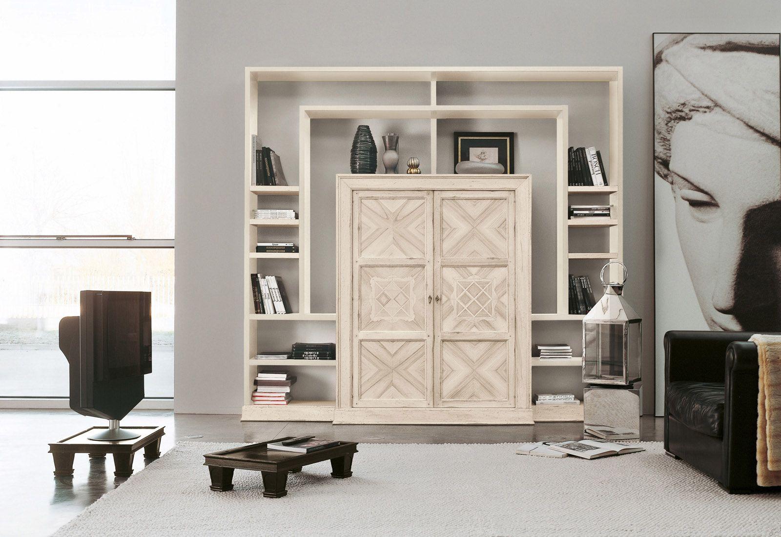 Marchetti mobilificio d'arte s.p.a. - Modular bookcase with inlaid doors