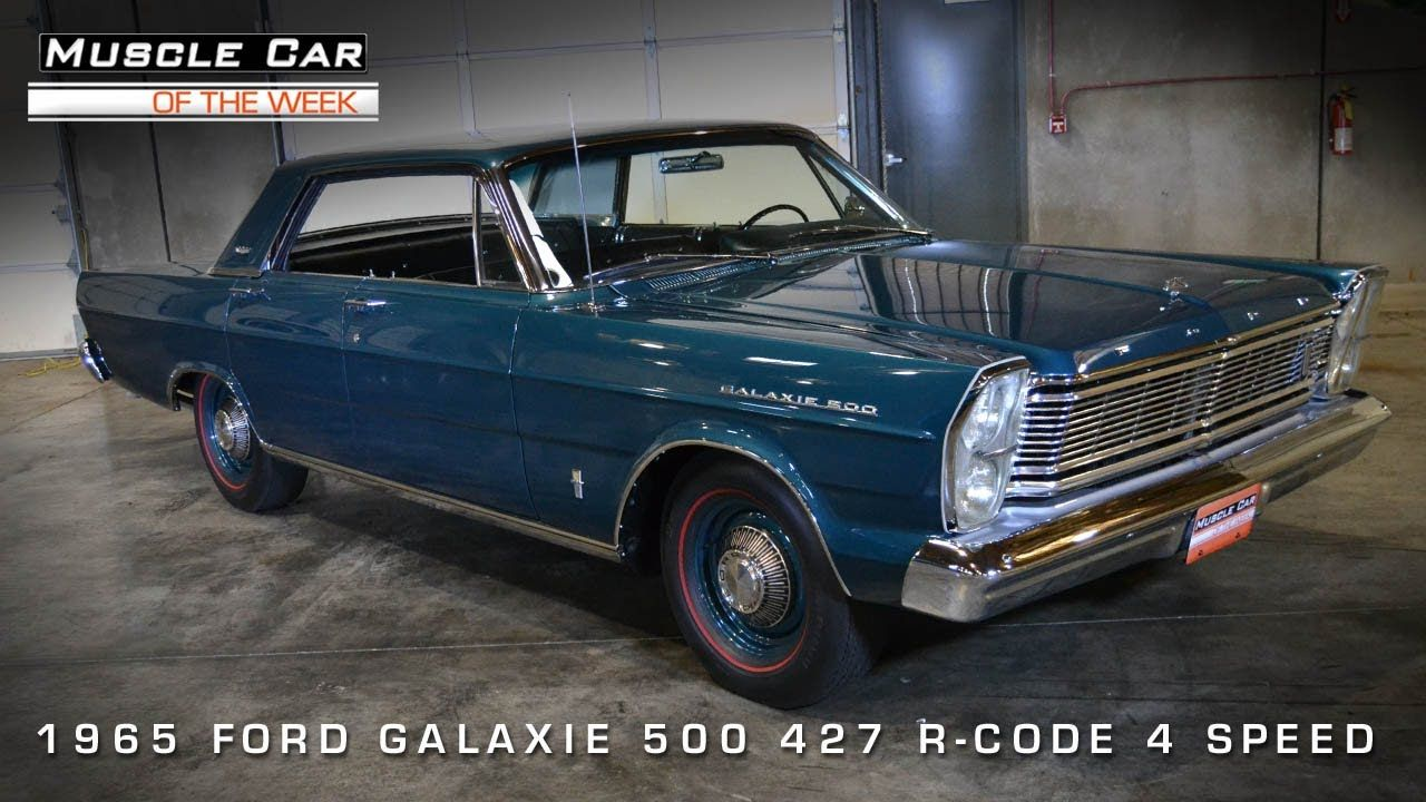 Muscle Car Of The Week Video 51 1965 Ford Galaxie 500 R Code 427