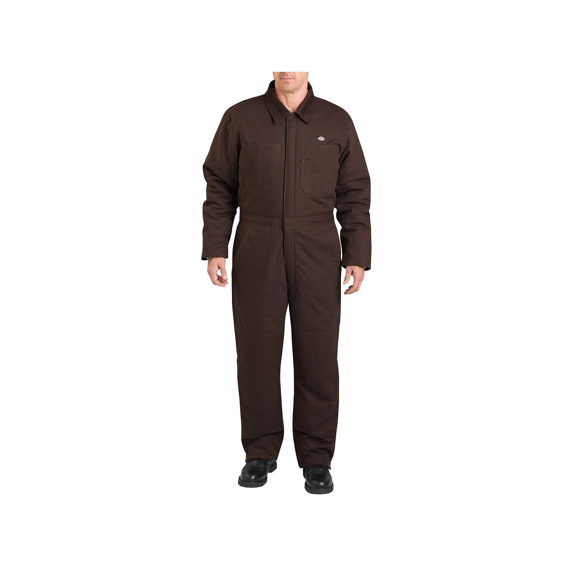 men s dickies sanded duck insulated coverall size medium on insulated overalls for men id=53728
