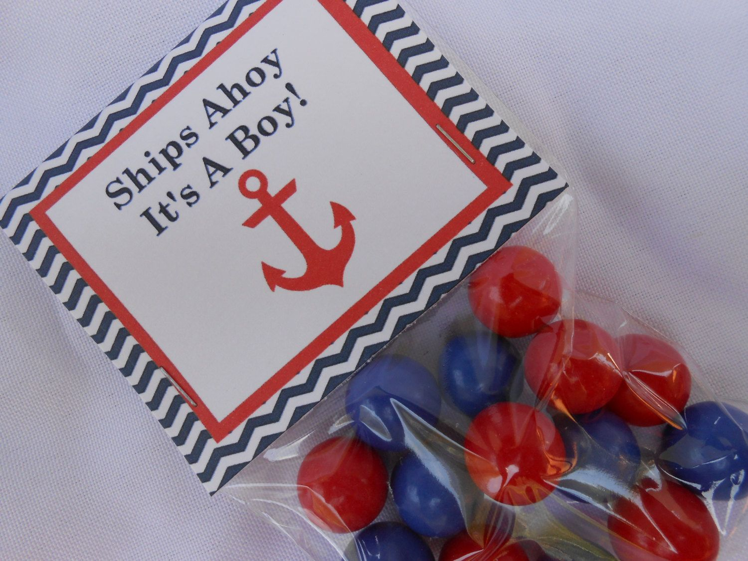 Nautical Baby Shower Favors Gumball Favorsboy By Thesweetrevenge