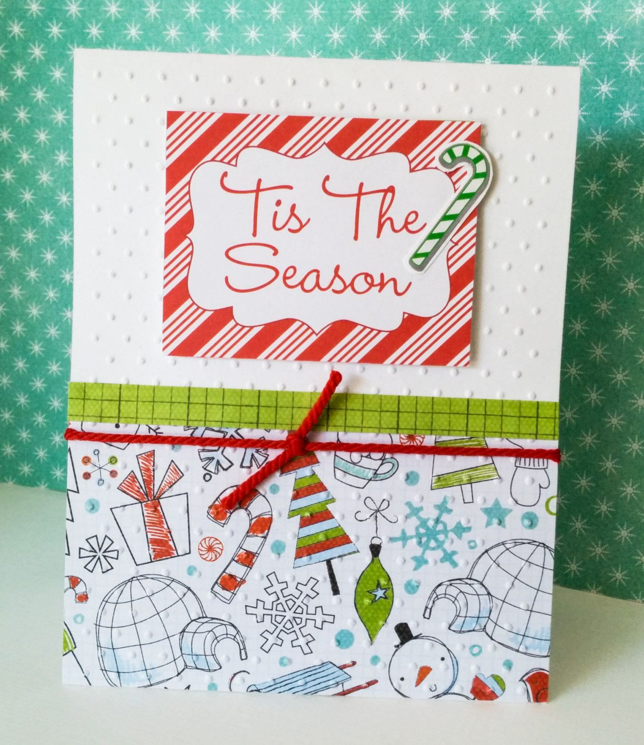 CANDY CANE Christmas Card Holiday Gift Happy