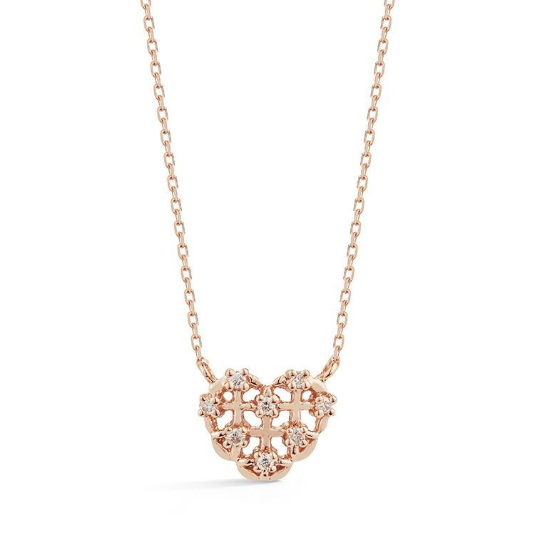 Jacquie C Rose Gold Heart Pendant Necklace Danarebecca Heart Pendant Gold Diamond Pendant Sets Pendant